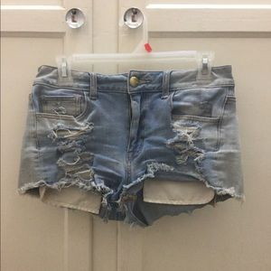 High rise American Eagle shorties